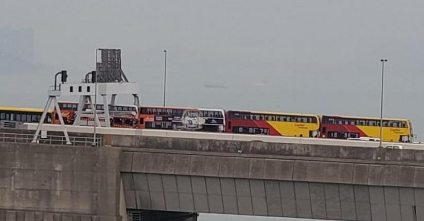Buses Collide On Tsing Ma Bridge, At Least 10 Hurt