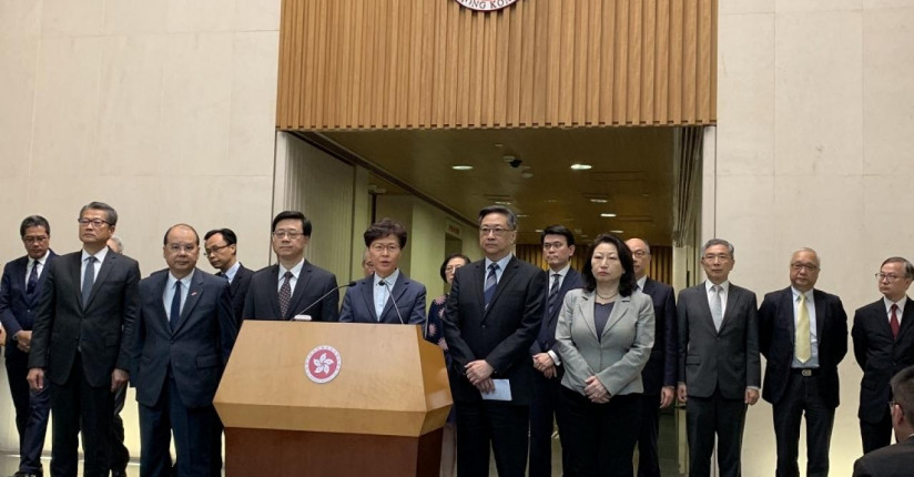 CE Condemns Protest Violence, Yuen Long Attacks