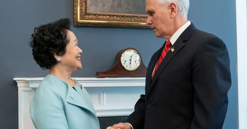Former CS Anson Chan Meets With Mike Pence