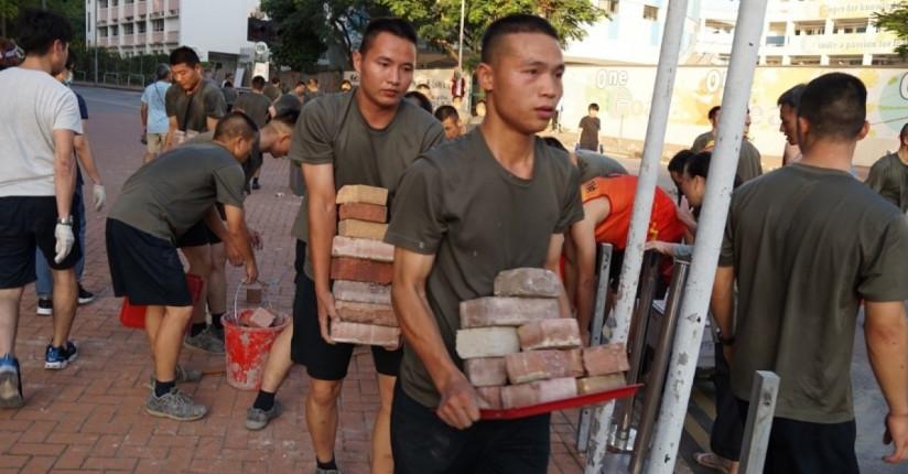 Pan-dems, Protesters Blast PLA's 'volunteering'